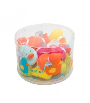 Pot 16 colored ducklings Olmitos
