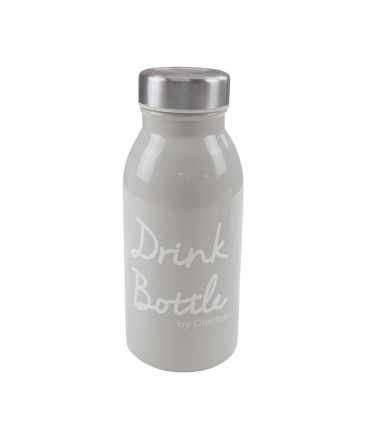 Stainless steel bottle + cover Olmitos
