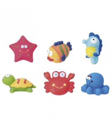 Bote de 6 juguetes de baño Olmitos