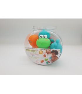 Bath toys pack 4 pcs. Infantino