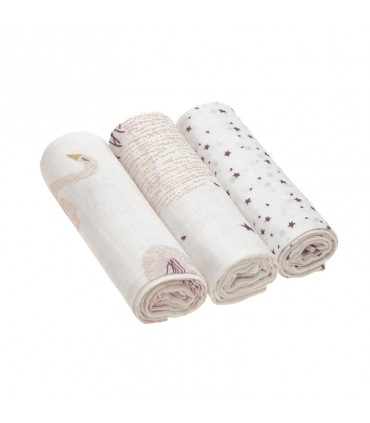Pack 3 muselinas. Heavenly Sof Swaddle L