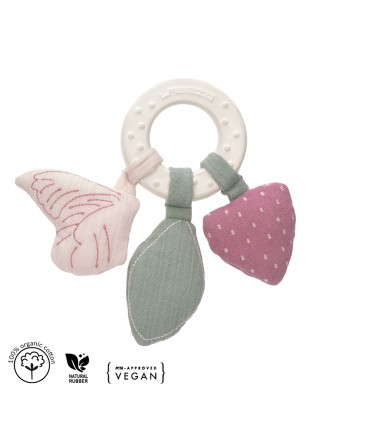 Wood and silicone teether ring Lässig