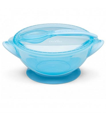 Bowl with lid and spoon Nuvita