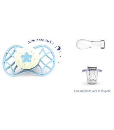 Glow Cool pacifier symmetrical nipple + 0m Nuvita