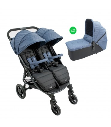 Cochecito VentTwin (2 sillas y capazos) Niu