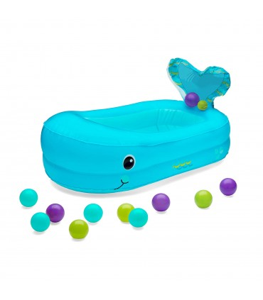 Bañera hinchable ballena + 10 bolas Infantino